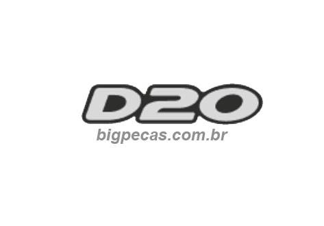 EMBLEMA ADESIVO PRATA D20