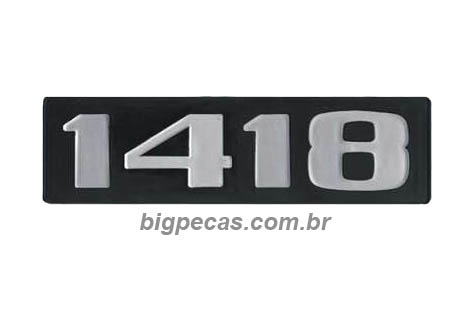 EMBLEMA PLAQUETA MB 1418
