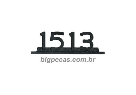 EMBLEMA MB 1513 CROMADO PLASTICO
