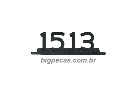 EMBLEMA MB 1513 PRETO PLASTICO