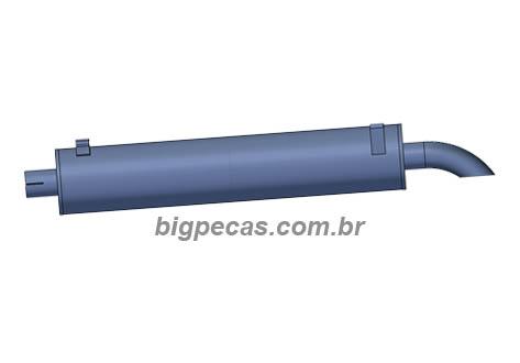 ESCAPE SILENCIOSO OCO MB 710/712C/1215C (2002 EM DIANTE)