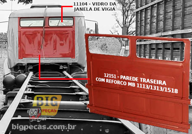 PAREDE TRASEIRA C/ REFORCO MB 1113/1518 - (imagem meramente ilustrativa)