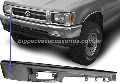 PARACHOQUE DIANTEIRO CROMADO HILUX 4X4 SR5 (1992 ATÉ 2001)