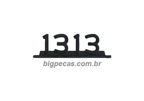 EMBLEMA PLASTICO CROMADO MB 1313