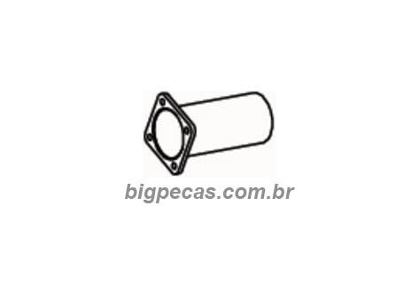 TUBO DE ESCAPE 4 POL. INTERMEDIARIO FORD CARGO - (imagem meramente ilustrativa)