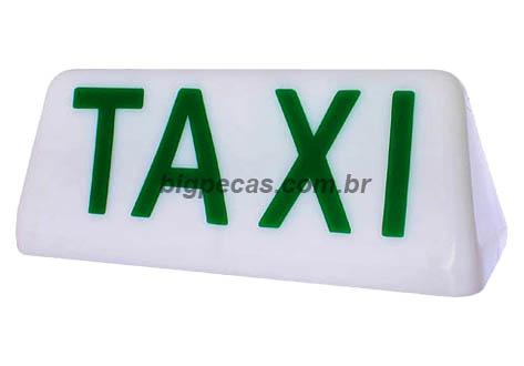 LETREIRO TAXI (CAPELINHA) COM LED