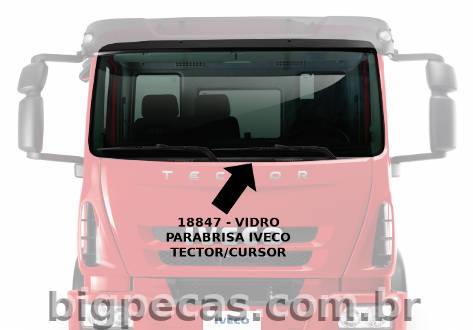 VIDRO PARABRISA IVECO EUROCARGO/ TECTOR