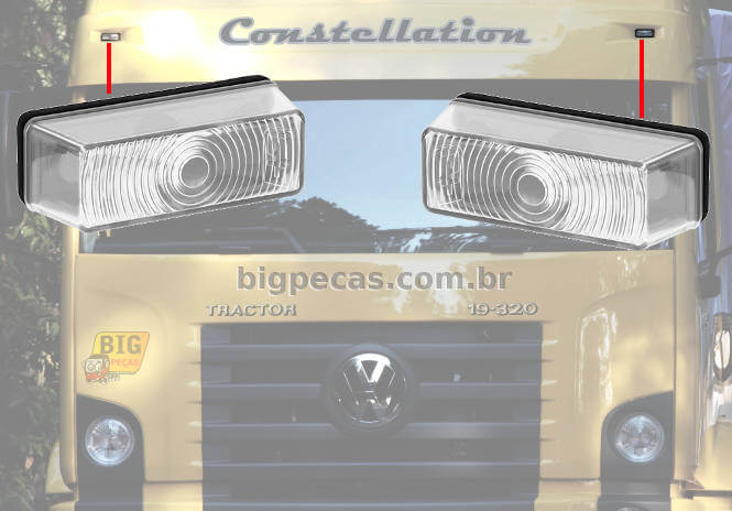 LANTERNA DO TAPA SOL CRISTAL S/ LADO VW CONSTELLATION