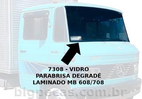 VIDRO PARABRISA LAMINADO MB 608/708 - (imagem meramente ilustrativa)