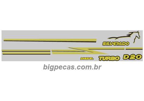 FAIXA PRETO/DOURADO SILVERADO/D20 2000