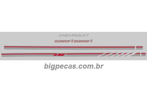 FAIXA CHAMP 1 PRATA/VERMELHO D20