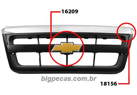 GRADE E EMBLEMA S10/BLAZER (2009 EM DIANTE)