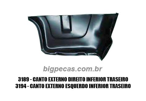 CANTO/ ACABAMENTO EXTERTNO TRASEIRO F1000 (TODAS ATÉ 1992)