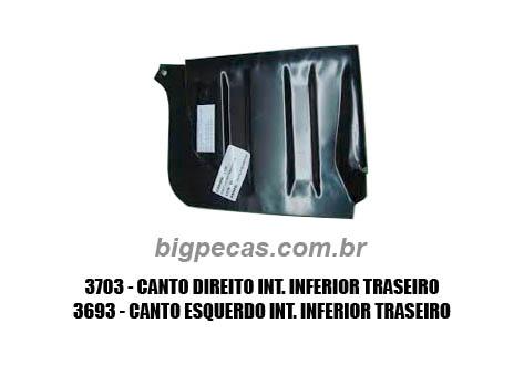 CANTO/ ACABAMENTO INTERNO TRASEIRO F1000 (TODAS ATÉ 1992)