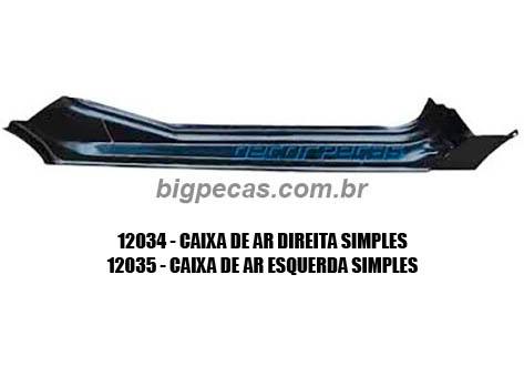 CAIXA DE AR SIMPLES F1000 (TODAS ATÉ 1992)
