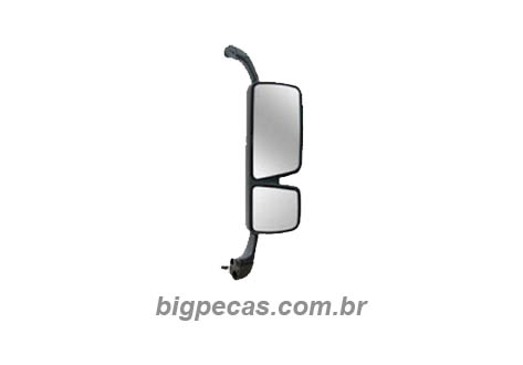 ESPELHO RETROVISOR CROMADO C/DESEMB. MB ACTROS