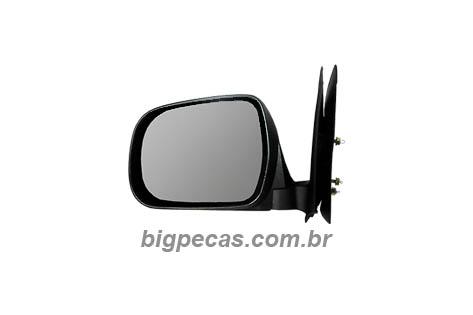 ESPELHO RETROVISOR PRETO FIXO HILUX (2005 EM DIANTE)