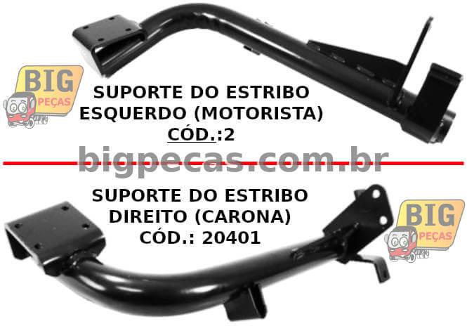 SUPORTE PARA ESTRIBO DE ALUMÍNIO VW WORKER (2000 EM DIANTE)