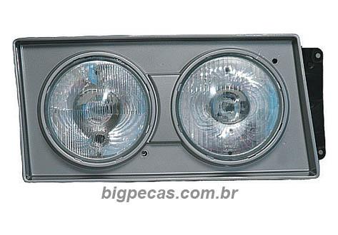 FAROL COM MOLDURA CINZA VW (2000 EM DIANTE)