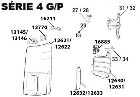 FRENTE SCANIA S4 G/P - (imagem meramente ilustrativa)