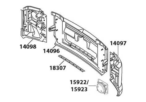 FRENTE VW CONSTALLATION 24-250/ 26-260/ 31-260/ 31-320E/ 31-370E - (imagem meramente ilustrativa)