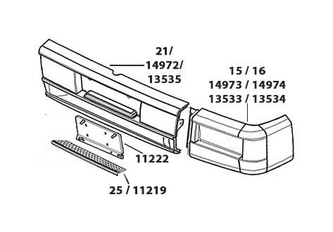 FRENTE VW WORKER/ TITAN (24-220/ 18-310/ 26-220) - (imagem meramente ilustrativa)