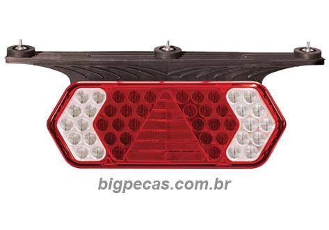 SUPORTE/LANTERNA LED 12V/24V VERMELHA E BRANCA CARRETAS GUERRA