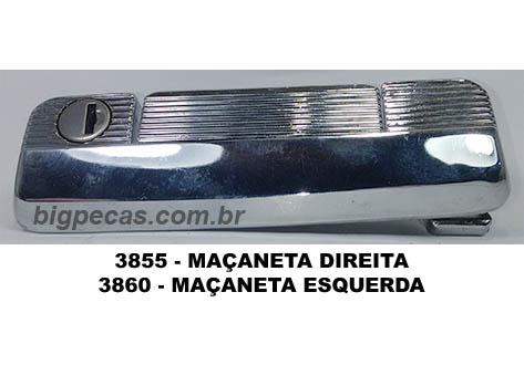 MAÇANETA EXTERNA CROMADA COM CHAVE PARA FIAT 147