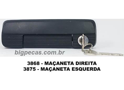 MAÇANETA EXTERNA PRETA COM CHAVE PARA FIAT 147