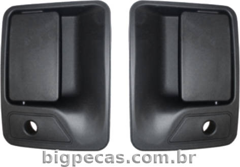 MAÇANETA EXTERNA P. DIANT. PRETA F250/ F350/ F150/ F4000/ F12000/ F14000 E F16000 (1999 EM DIANTE)