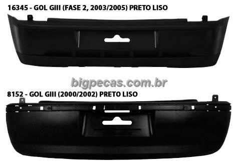PARACHOQUE TRASEIRO GOL G3