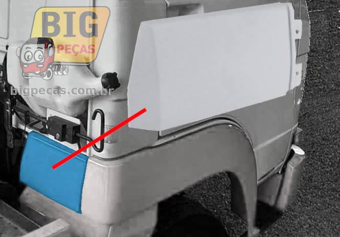 ACABAMENTO TRASEIRO DO PARALAMA DIANTEIRO DA CABINE VW DELIVERY 5140/ 8150/ 9150/ 8160 - (imagem meramente ilustrativa)