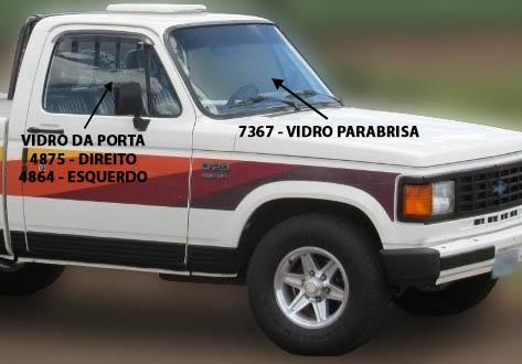 VIDRO DA PORTA D20/PICK-UPS CHEVROLET/VERANEIO