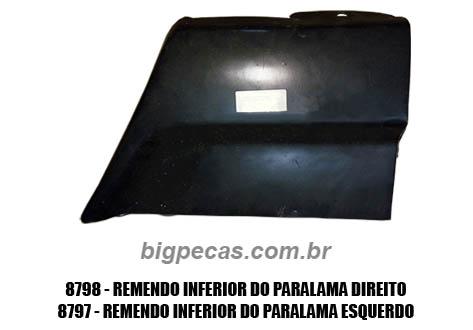 REMENDO INFERIOR DO PARALAMA F1000/ F4000 (TODAS ATÉ 1992)