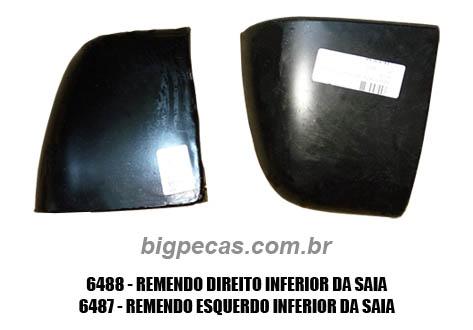 REMENDO INFERIOR DA SAIA F1000 (TODAS ATÉ 1992)