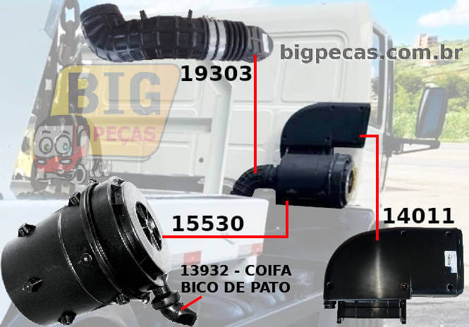 FILTRO DE AR CARGO/ VOLKSWAGEN/ MERCEDES-BENZ - (imagem meramente ilustrativa)