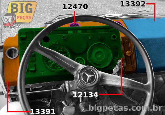 MERCEDES-BENZ 1113 CARA PRETA - ESQUERDO (MOTORISTA) - (imagem meramente ilustrativa)